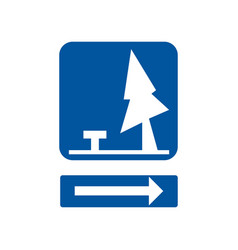 Usa traffic road signsrest area ahead vector
