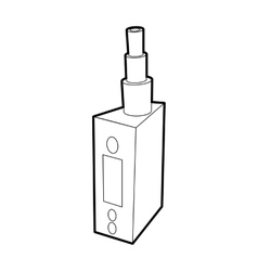 Vape device juice for vape icon outline style vector