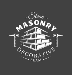 vintage construction label vector image
