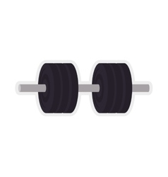 Weight metal fitness gym sport icon vector