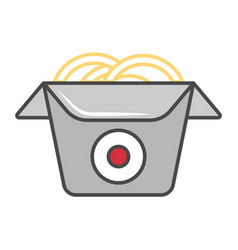 Wok box isolated icon vector