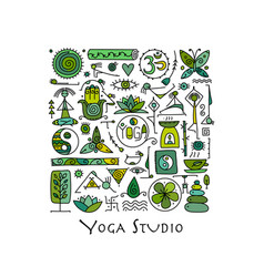 yoga background for your design vector image