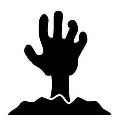 Zombie hand solid icon undead vector
