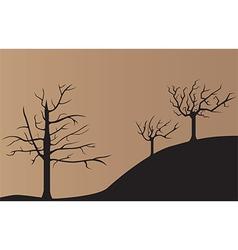 Dead tree background vector