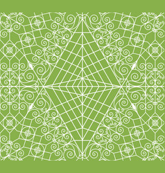 geometric greenery seamless pattern vector image vector image