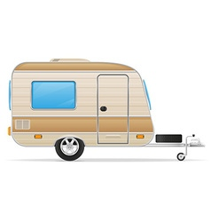 trailer caravan 01 vector image