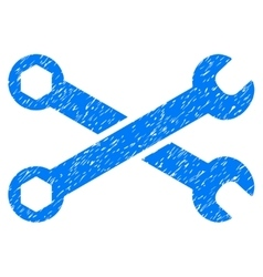 Wrenches Grainy Texture Icon vector image vector image