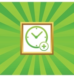 Add time picture icon vector image vector image