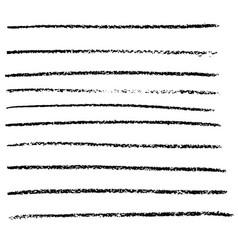 chalked handmade lines chalk hand drawn vector image