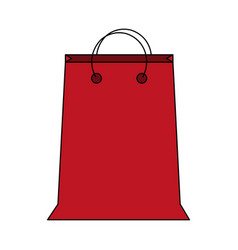 colorful image cartoon red bag for shopping with vector image vector image