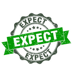 expect stamp sign seal vector image vector image