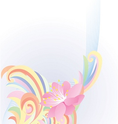 abstract pastel flower vector image