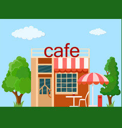 cafe front view vector image