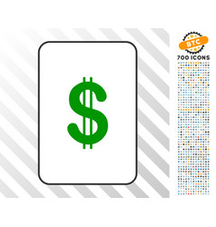 dollar card with bonus vector image vector image