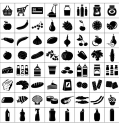 Set of supermarket symbols vector image vector image
