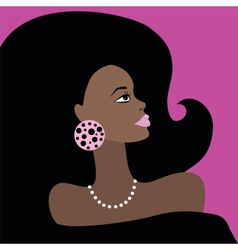 African Beautiful Woman vector image