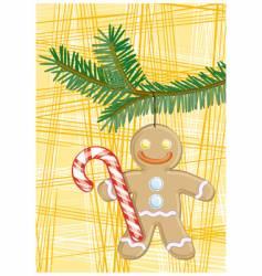 gingerbread man vector image vector image