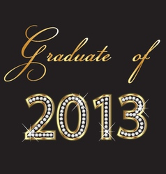 Graduates of 2013 design vector image vector image