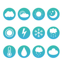 set collection of weather and meteorology icons vector image