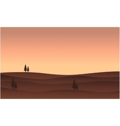 Silhouette of hill flat vector image vector image