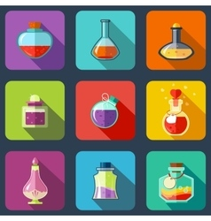 Transparent Magic Elixir in Different Colors With vector image