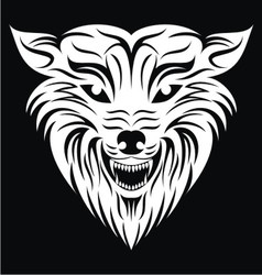 White Wolf Face vector image vector image