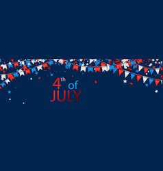 4th july banner with flags vector image