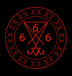 666- the number of the beast with the sigil of luc vector