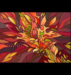 abstract decorative fiery pattern in fiery color vector image