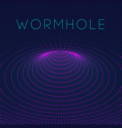 abstract wireframe wormhole 3d 3d vector image