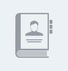 addressbook organizer concept icon vector image