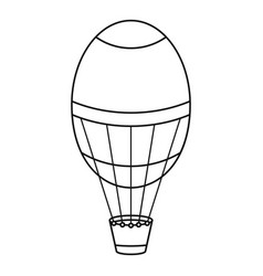 air balloon icon outline style vector image