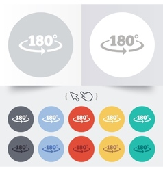 Angle 180 degrees sign icon Geometry math symbol vector image vector image