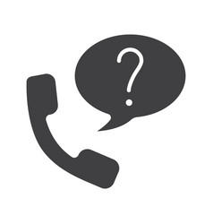 Ask question phone glyph icon vector