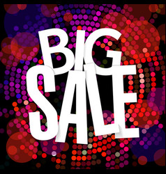 big sale banner flat design template vector image