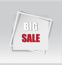big sale square banner black friday design vector image