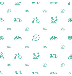 Bike icons pattern seamless white background vector
