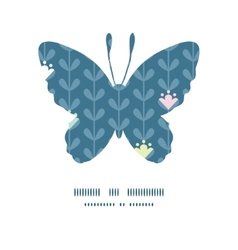 Blloming vines stripes butterfly silhouette vector