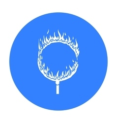 Burning hoop icon in black style isolated on white vector