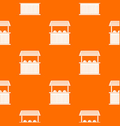Carnival fair booth pattern seamless vector