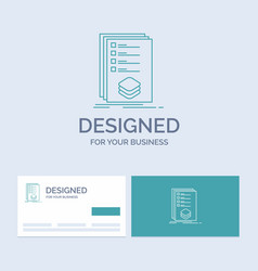 categories check list listing mark business logo vector image