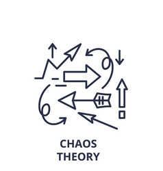 Chaos theory line icon concept chaos theory vector