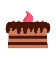 Chocolate cake icon vector image