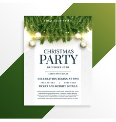 Christmas holiday party flyer design template vector