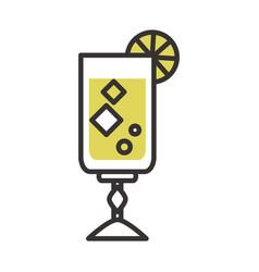 cocktail alcoholic beverage icon drink liquor line vector image
