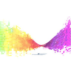 Colorful abstract background mosaic pixels vector