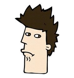 Comic cartoon nervous expression vector