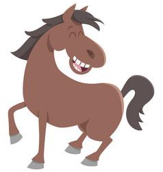 cute horse farm animal vector image