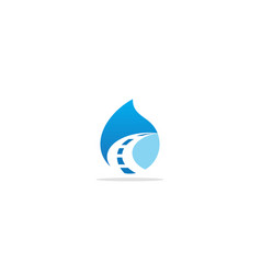 Droplet water road abstract logo vector