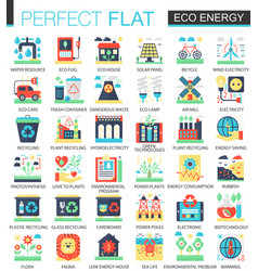 Eco energy complex flat icon concept vector